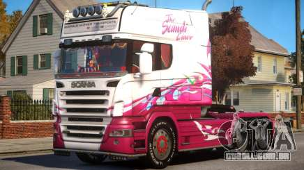 Scania R580 Longline Custom PJ2 para GTA 4