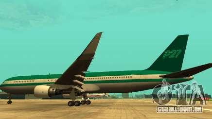 O Boeing 767 P27 Teal Cores para GTA San Andreas