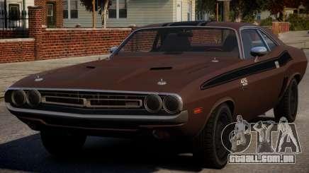 Dodge Challenger 1971 PJ6 para GTA 4