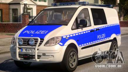 Mercedes Benz Vito German Police para GTA 4