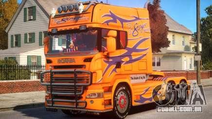 Scania R580 Longline Custom P10 para GTA 4
