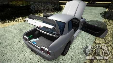 Nissan Skyline GT-R (BNR32) 1989 para GTA San Andreas vista interior