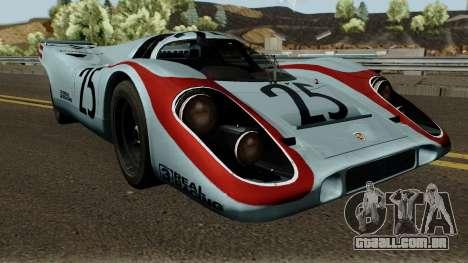Porsche 917K 1970 para GTA San Andreas vista interior