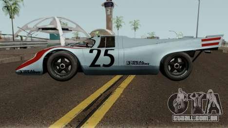 Porsche 917K 1970 para GTA San Andreas esquerda vista