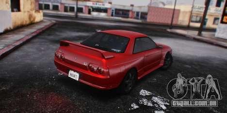 Nissan Skyline GT-R (BNR32) 1989 para GTA San Andreas esquerda vista
