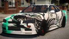 Nissan Skyline GT-R R34 PJ4 para GTA 4