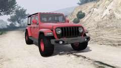 Jeep Wrangler Unlimited Rubicon 2018 [add-on] para GTA 5