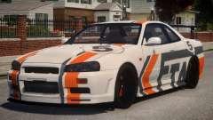 Nissan Skyline GT-R R34 PJ2 para GTA 4