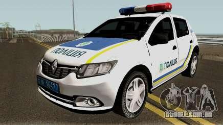 Renault Sandero 2013 Polícia Da Ucrânia para GTA San Andreas