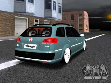 Fiat Palio Weekend para GTA San Andreas vista inferior