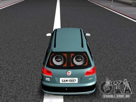 Fiat Palio Weekend para GTA San Andreas interior
