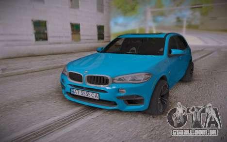 BMW X5M 2015 para GTA San Andreas vista traseira