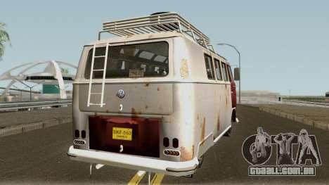 Volkswagen Kombi para GTA San Andreas vista direita