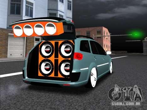 Fiat Palio Weekend para GTA San Andreas vista traseira