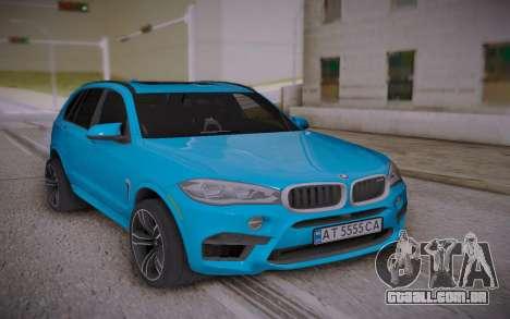 BMW X5M 2015 para GTA San Andreas