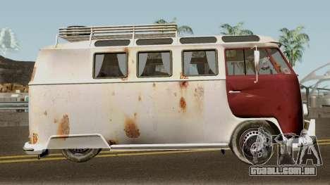 Volkswagen Kombi para GTA San Andreas vista traseira
