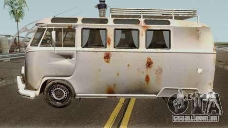 Volkswagen Kombi para GTA San Andreas esquerda vista