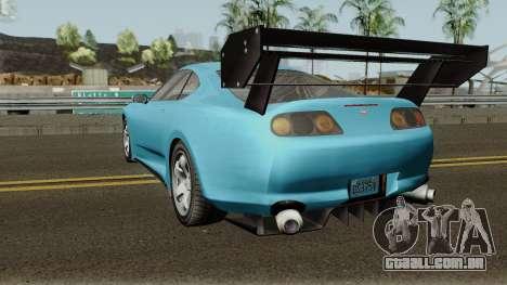 Dinka Jester Classic or F&F GTA V para GTA San Andreas traseira esquerda vista