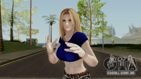Tina Armstrong (Casual Long Hair) From DOA5LR para GTA San Andreas
