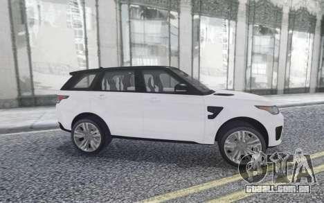 Land Rover Range Rover Sport SVR para GTA San Andreas