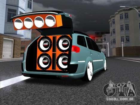 Fiat Palio Weekend para vista lateral GTA San Andreas