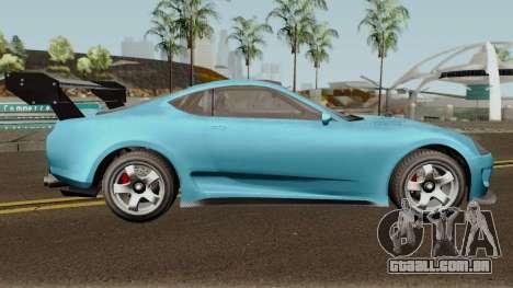Dinka Jester Classic or F&F GTA V para GTA San Andreas vista traseira