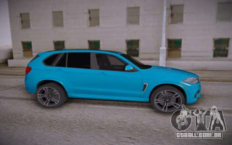 BMW X5M 2015 para GTA San Andreas esquerda vista