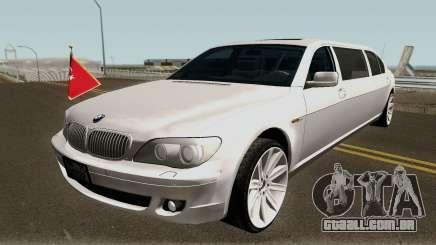BMW 760Li E66 W12 Limousine para GTA San Andreas