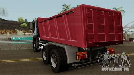 Iveco Trakker Dumper 6x4 para GTA San Andreas traseira esquerda vista