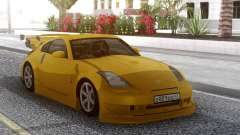 Nissan 350Z Yellow Tuning para GTA San Andreas
