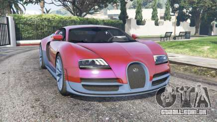 Bugatti Veyron Super Sport 2010 v2.0 [replace] para GTA 5