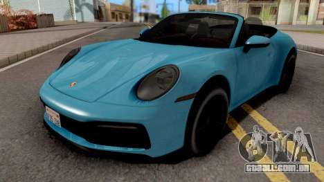 Porsche 911 Carrera 4S Cabriolet 2020 para GTA San Andreas