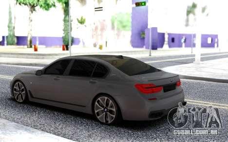 BMW 750 760Li M Xdrive 2017 para GTA San Andreas