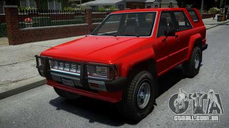 Karin Rebel Raider SUV para GTA 4