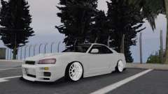 Nissan Skyline R34 White para GTA San Andreas