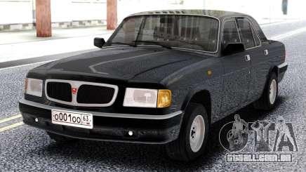 GAZ 3110 Volga Preto para GTA San Andreas