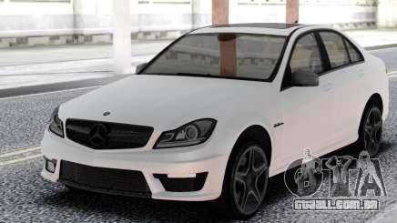 Mercedes-Benz White C63 AMG W204 para GTA San Andreas