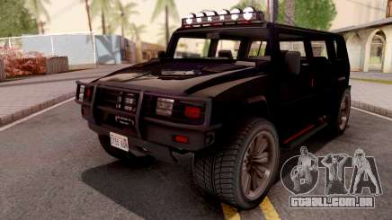 GTA V Mammoth Patriot R para GTA San Andreas