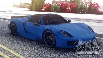 Porsche 918 Spyder Blue para GTA San Andreas