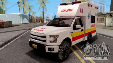 Ford F-150 Ambulancia de Bogota para GTA San Andreas