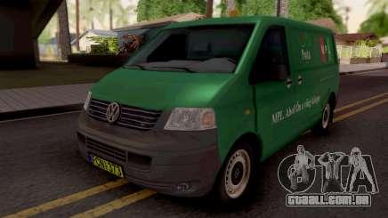 Volkswagen Transporter T5 Magyar Posta para GTA San Andreas