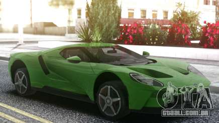 Ford GT 2017 Green para GTA San Andreas