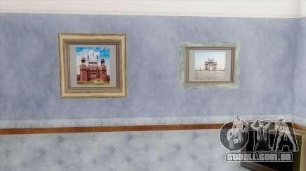 Indian Landmark Photos In CJ House para GTA San Andreas