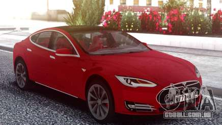 Tesla Model S Red para GTA San Andreas