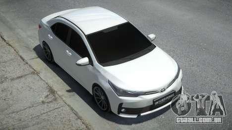 Toyota Corolla 2017 para GTA 4