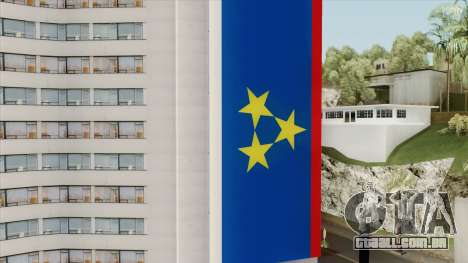 Vojvodina Flag on Building para GTA San Andreas
