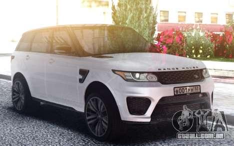 Range Rover Sport SVR para GTA San Andreas