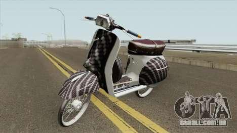Vespa 180SS Rim Nouvo MX White Reborn para GTA San Andreas