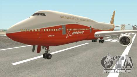 Boeing 747-8i (Boeing House Sunrise) para GTA San Andreas