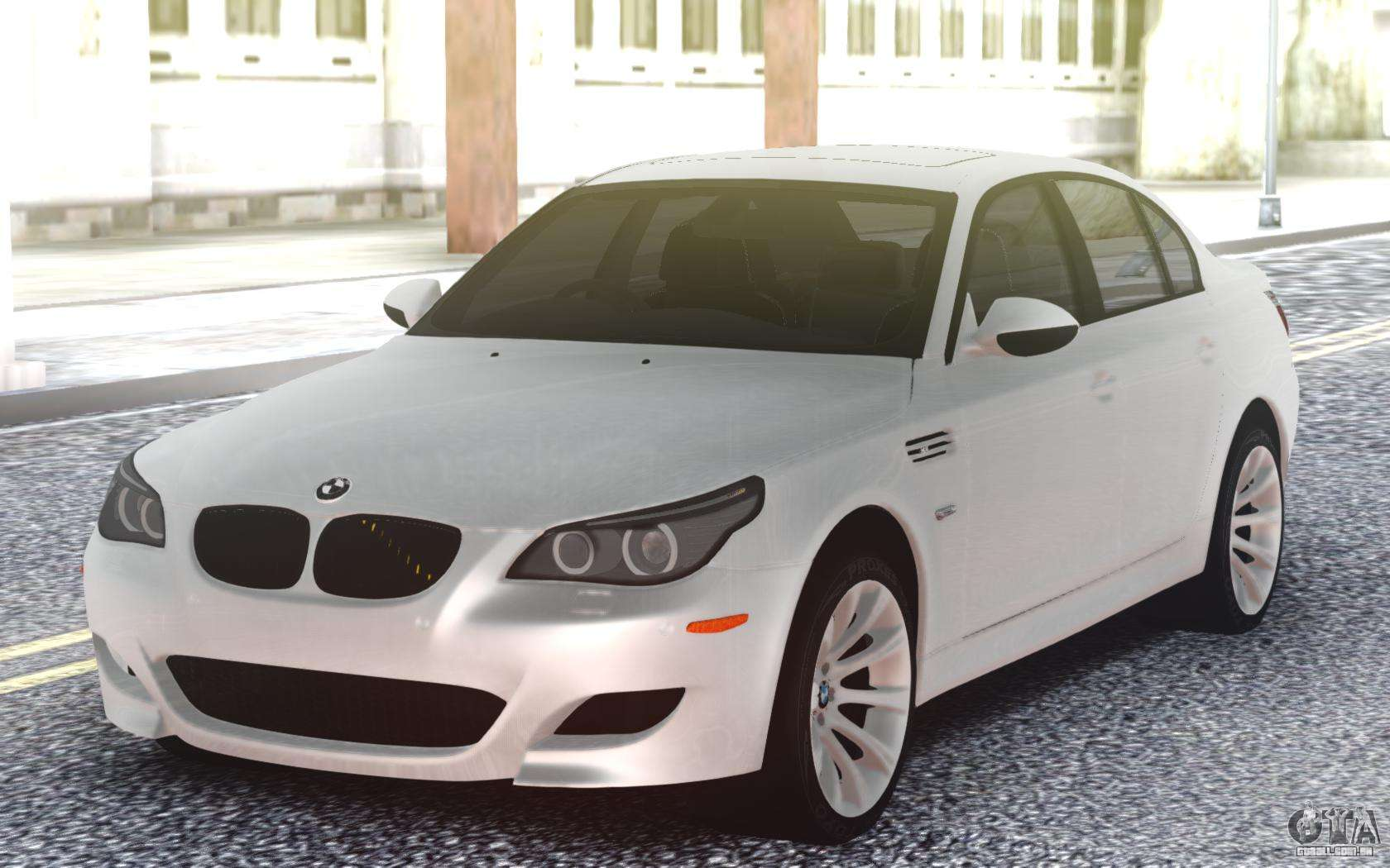 Bmw M5 E60 Sedan White Para Gta San Andreas